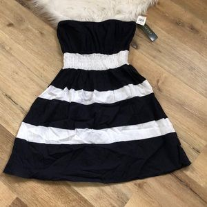 Ralph Lauren Navy/White Halter Dress NWT